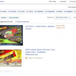 NERF bei ebay kaufen: Screenshot