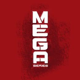 Das Nerf Mega Logo auf rotem Grund