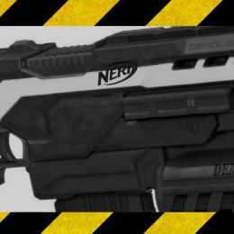Die NERF Demolisher in schwarz und weiß
